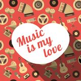 Music To My Love Royalty Free Stock Photography