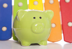 Music to your ears piggy bank Royalty Free Stock Images