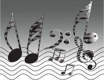 Music tones with different notes Stock Photos