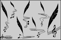 Music track - musical notes Stock Images