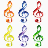 Music treble clef Stock Photography