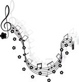 Music. Treble clef and notes for your design. Stock Image