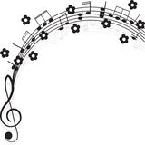 Music. Treble clef and notes for your design. Stock Photo