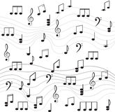 Music. Treble clef and notes for your design. Royalty Free Stock Photos