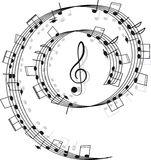 Music. Treble clef and notes for your design Stock Images