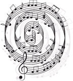 Music. Treble clef and notes for your design. On a white background Royalty Free Stock Photos