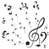 Music. Treble clef and notes for your design Stock Photos