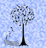 Music tree Stock Photography
