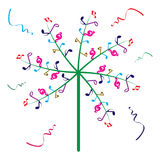 Music tree. Illustration of music tree on white background Stock Photos