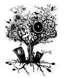 Music tree Royalty Free Stock Photography