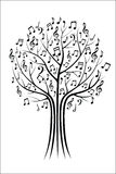Music tree Stock Image