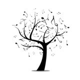 Music tree. Vector Illustration of an Abstract Music Design Stock Image