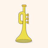 Music trumpet theme elements vector,eps Royalty Free Stock Image
