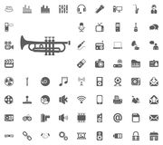 Music tube icon. Media, Music and Communication vector illustration icon set. Set of universal icons. Set of 64 icons.  Royalty Free Illustration