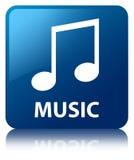 Music (tune icon) blue square button Stock Images