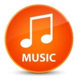 Music (tune icon) elegant orange round button Stock Images
