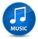 Music (tune icon) elegant blue round button. Music (tune icon) isolated on elegant blue round button abstract illustration Royalty Free Stock Photo