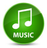 Music (tune icon) elegant green round button Royalty Free Stock Photography