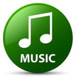 Music (tune icon) green round button. Music (tune icon) isolated on green round button abstract illustration Stock Photo