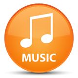 Music (tune icon) special orange round button. Music (tune icon) isolated on special orange round button abstract illustration Stock Photography