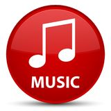 Music (tune icon) special red round button Stock Photography