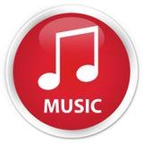 Music (tune icon) premium red round button Stock Photo