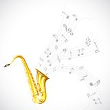 Music Tune from Saxophone Royalty Free Stock Photo