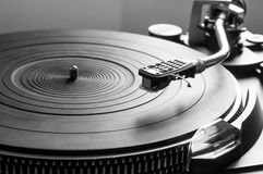 Music turntable Stock Photo