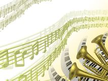 Music two background vector illustration