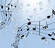 Music under water royalty free stock image