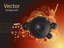 Music vector background. Dark Music vector background with speakers Stock Photography