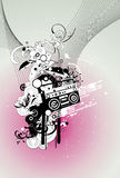 Music vector composition Royalty Free Stock Images
