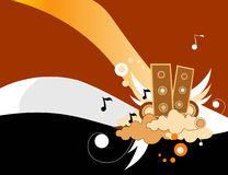 Music vector composition. Abstract sound music vector composition Stock Photo