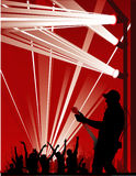 Music vector composition. Abstract sound music vector composition Royalty Free Stock Image