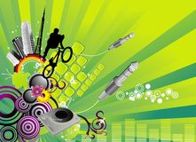 Music vector composition Royalty Free Stock Photography