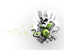 Music vector composition Royalty Free Stock Image