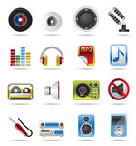 Music Vector Icons. Music and sound icons - Vector Icon Set Stock Photo