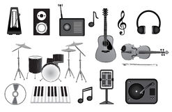 Music vector icons Stock Image