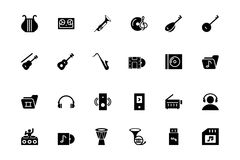 Music Vector Icons 3. Get ready for your next project with the Music Icons Vector! You will find that these Icons to use for multimedia and musical instrument Royalty Free Stock Photo