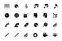 Music Vector Icons 2. Get ready for your next project with the Music Icons Vector! You will find that these Icons to use for multimedia and musical instrument Stock Image