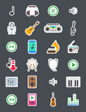 Music  vector icons set Stock Photography