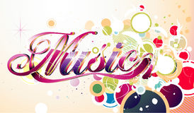 Music vector illustration Stock Images