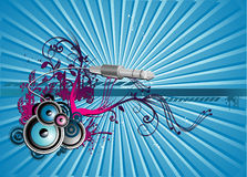 Music vector illustration Royalty Free Stock Photography