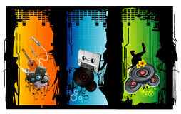Music vector illustration. Banner over a colors background Stock Photography
