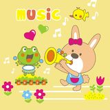 Music. Vector illustration for children clothes for wallpaper vector illustration