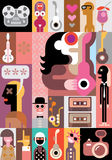 Music vector illustration Royalty Free Stock Image