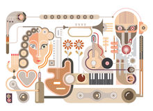 Music - vector illustration Royalty Free Stock Images