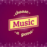 Music vector label and Stock Images