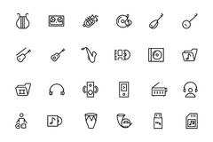 Music Vector Line Icons 3 Stock Photos