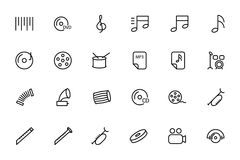Music Vector Line Icons 2 Stock Image